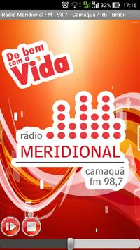 Rádio Meridional FM Camaquã RS poster
