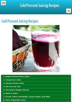 Cold Pressed Juicing Recipes apk screenshot
