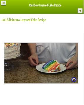 Layered Rainbow Cake Recipe apk screenshot