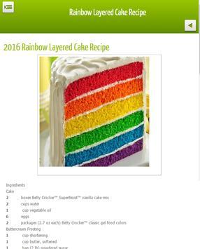 Layered Rainbow Cake Recipe poster