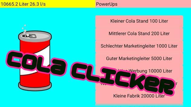 Cola Clicker poster