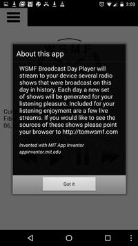 WSMF Broadcast Day Player apk screenshot