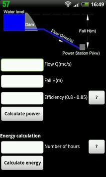 Hydropower calculator poster