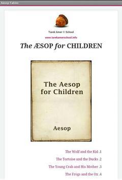 Aesop Fables for children - 2018 poster