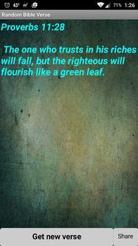 Random Bible Verse App poster