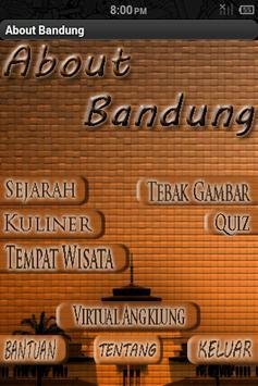About Bandung poster