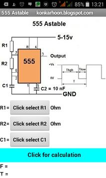 IC555 astable apk screenshot