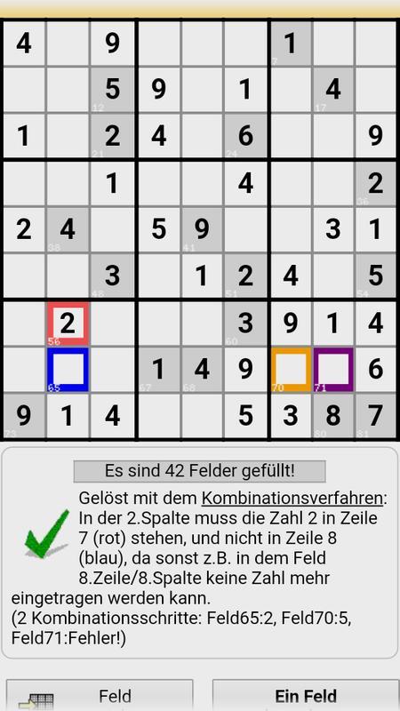 Sudoku-lösung. De for android apk download.