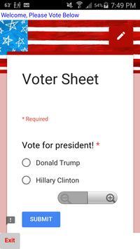 Simple Vote 2016 poster