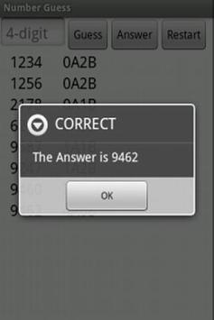 Number Guess apk screenshot