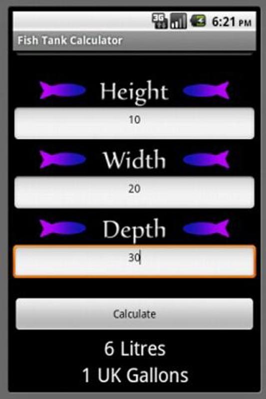Fish tank calculator apk download free books reference for Aquarium fish calculator