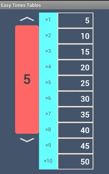 Quick Times Tables poster