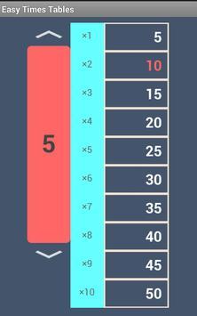 Quick Times Tables screenshot 1