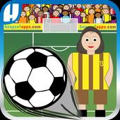 Girls Soccer Footy Flick icon