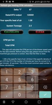 Verbals CFM calculator screenshot 1