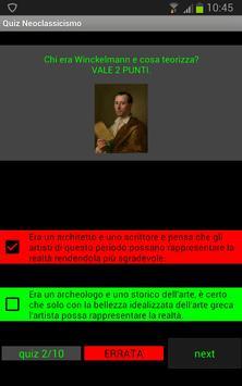 Quiz storia dell'arte: Neoclassicismo poster