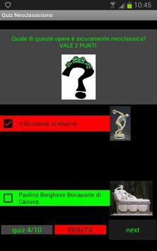 Quiz storia dell'arte: Neoclassicismo screenshot 1