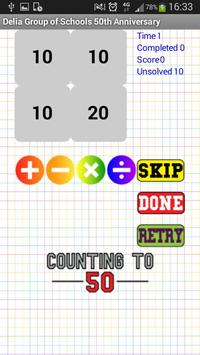 Counting to 50 apk screenshot