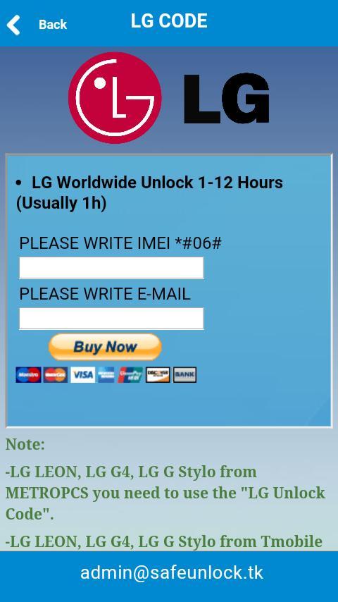 LG Sim Unlock Code for Android - APK Download