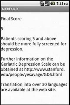 Geriatric Depression Scale 20 Apk Screenshot