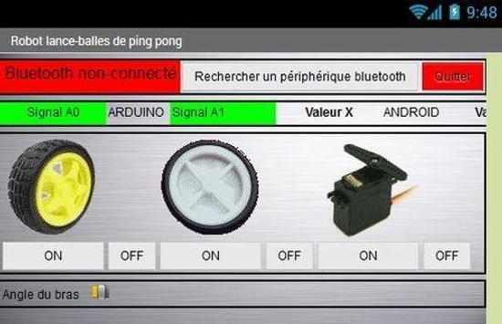 Robot lance-balles pingpong screenshot 2