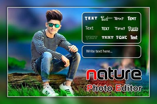 Nature Photo Editor - Nature Photo Frame poster
