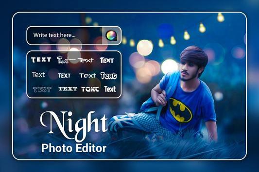 Night Photo Editor screenshot 1