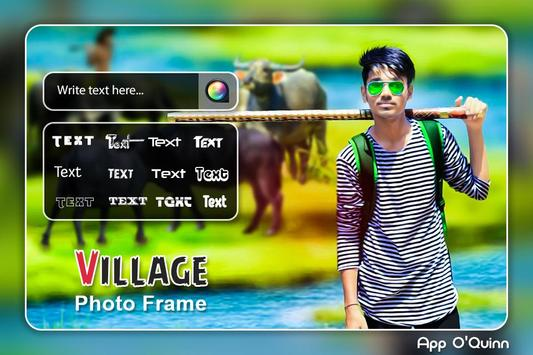 Village Photo Editor : Village Photo Frame poster