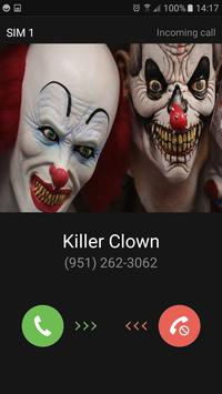 Faux appel de clown tueur apk screenshot