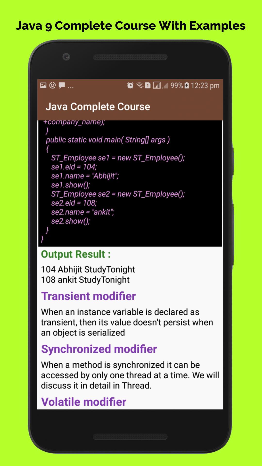 Core java tutorial pdf download