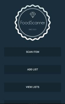 My Food Scanner poster