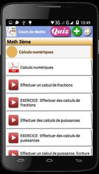 Cours Maths New screenshot 2