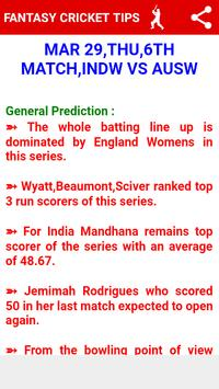 Dream 11 Fantasy Cricket Tips and Predictions screenshot 1