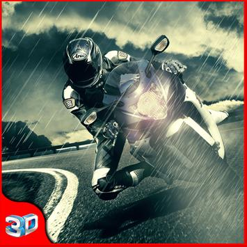 3D motorcycle: traffic rider poster