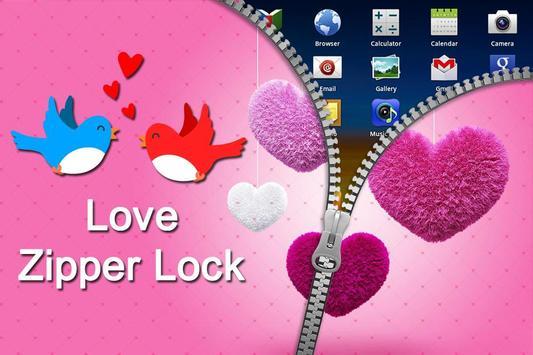 Love Zipper Lock apk screenshot