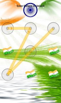 India Flag Pattern Lock Screen screenshot 5