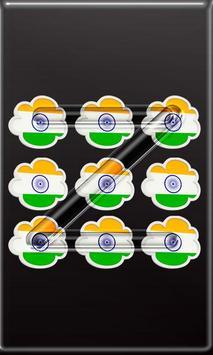 India Flag Pattern Lock Screen screenshot 6