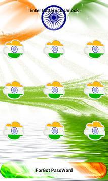 India Flag Pattern Lock Screen poster