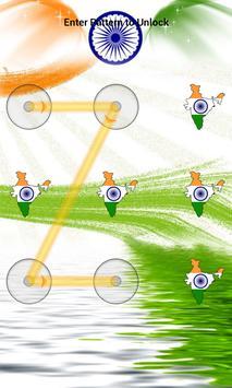 India Flag Pattern Lock Screen screenshot 14