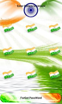 India Flag Pattern Lock Screen screenshot 1
