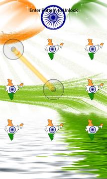 India Flag Pattern Lock Screen screenshot 23