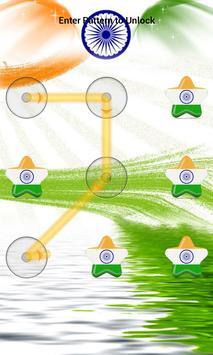 India Flag Pattern Lock Screen apk screenshot