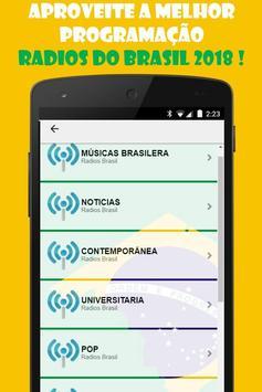 Radios Brasil Gratis: Radios Brasileras online screenshot 2
