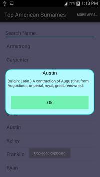 Top American Surname apk screenshot