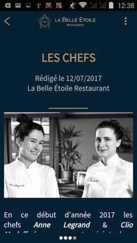La Belle Étoile Restaurant apk screenshot