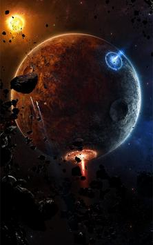 Asteroids 3D Live Wallpaper poster