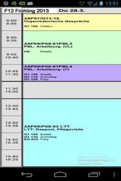 F12 Stundenplan HFGS poster