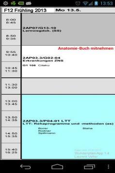 F12 Stundenplan HFGS apk screenshot