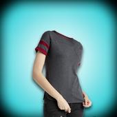 Woman Designed T-Shirt Photo Suit icon