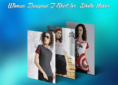 Woman Designed T-Shirt Photo Suit screenshot 4